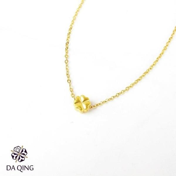 【南紡購物中心】《大慶珠寶銀樓》幸運草墜鍊 附金黃色銅鍊