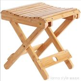 疊凳子便攜式家用實木馬扎戶外釣魚椅小板凳小凳子方凳  IGO  LannaS