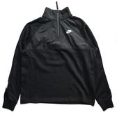 NIKE 黑白 串標手袖 半拉上衣 秋冬 男 (布魯克林) CJ4419-010