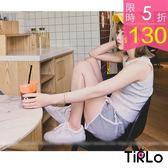 短褲 -Tirlo-活力滾邊運動小短褲-三色(現+追加預計5-7工作天出貨)