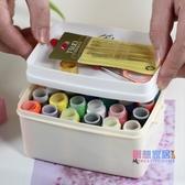 針線盒 家用便攜式針線盒套裝針線手工diy制作工具小型多功能縫衣針線包【快速出貨】