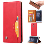 SONY Xperia XA2 Ultra 皮質外卡夾手機套 磁扣翻蓋 可立式手機皮套 全包防摔手機殼 皮夾式手機皮套