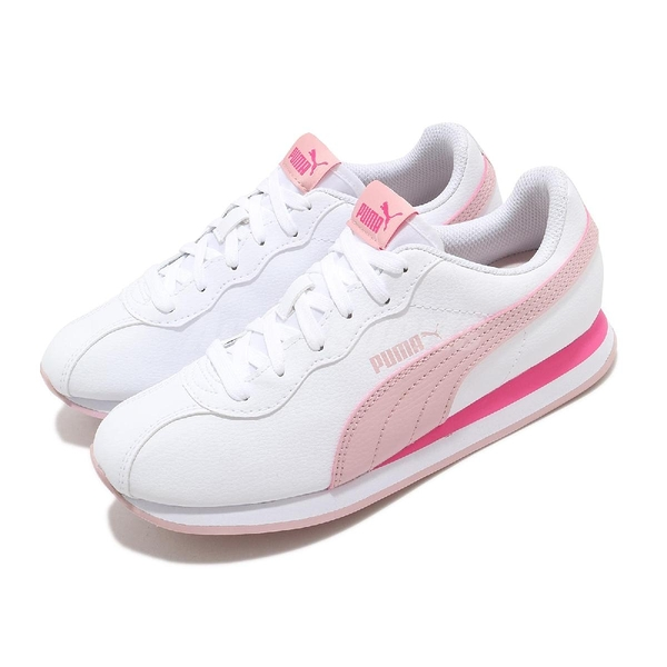 Puma 休閒鞋 Turin II 白 粉 女鞋 皮革 基本款 小白鞋 運動鞋 【ACS】 36696220