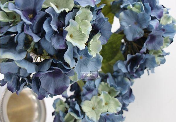 [協貿國際]秋色大繡球/藍色多色漸變/高檔外貿/仿真花絹花/樣板房歐式