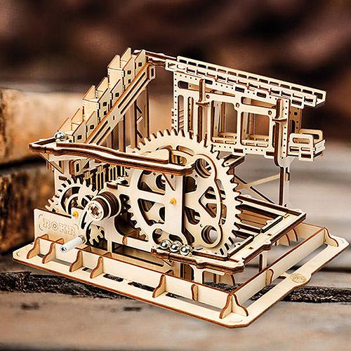 《 Robotime  》3D木製拼圖 - LG502 滾珠系列 Cog coaster╭★ JOYBUS玩具百貨