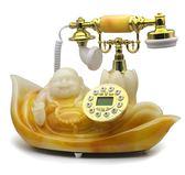 仿古電話 斐創歐式仿古電話復古電話機 固定座機 時尚創意古典彌勒佛電話機 俏女孩