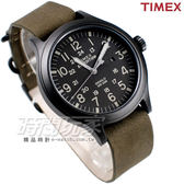 TIMEX 天美時 夜光顯示 24小時顯示 黑x軍綠色 都會男錶 TXT4B06700 真皮錶帶 軍錶 學生錶