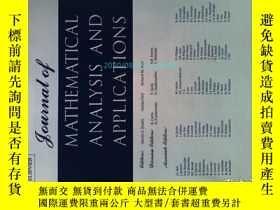 二手書博民逛書店Journal罕見of Mathematical Analysis and Applications 03 201