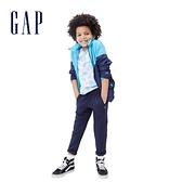 Gap男童 活力撞色休閒防雨外套 682056-藍色拼接
