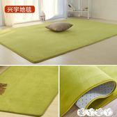地墊 珊瑚絨簡約現代臥室滿鋪可愛客廳茶幾墊沙發榻榻米床邊地毯可 【全館9折】
