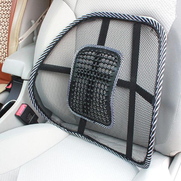 夏季涼靠墊 透氣 汽車腰靠 車用靠背 靠墊座椅 腰托 夏季透氣支撐腰部 腰枕【Z90545】