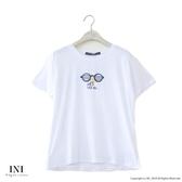 【INI】週慶限定、活潑可愛圖案上衣.白色
