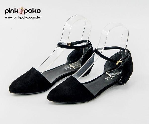 包鞋☆PINKPOKO粉紅波可☆氣質修長美腳背微尖頭娃娃鞋-2色 #1095