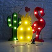 【春季上新】 裝飾臺燈仙人掌宿舍臥室裝飾網格照片墻裝飾燈