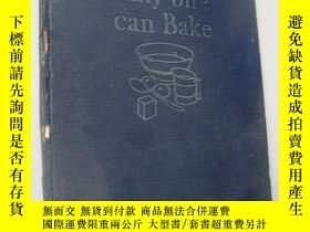 二手書博民逛書店英文原版1929老版《Any罕見one can Bake(西點制