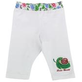 【愛的世界】彈性緊身七分褲-白/4~8歲-台灣製- ---春夏下著 涼夏推薦