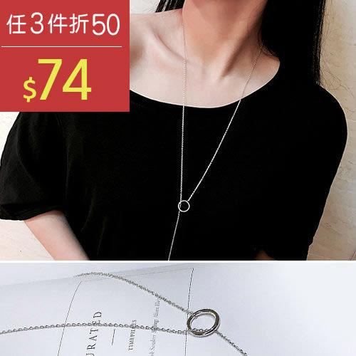 項鍊 幾何 鏤空 金屬感 氣質 長款 項鍊【DD1604038】 BOBI  09/21