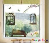 壁貼【橘果設計】窗外風景 DIY組合壁貼/牆貼/壁紙/客廳臥室浴室幼稚園室內設計裝潢