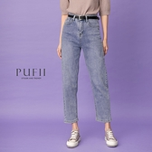 限量現貨◆PUFII-牛仔褲 水洗風牛仔褲男友褲(附皮帶)- 0311 現+預 春【CP19853】