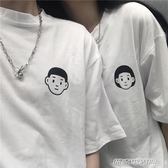 情侶裝超火情侶短袖T恤女夏裝韓版潮原宿學生蹦迪寬鬆 免運快出