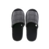HOLA 英倫格紋保暖拖鞋-灰XL