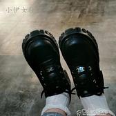 復古厚底瑪麗珍鞋2021春秋新款英倫風小皮鞋日系jk制服鞋系帶單鞋 快速出貨