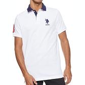 US Polo - 小馬合身彈性Polo衫(白色)