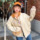 春秋原宿寬鬆bf夾克開學季學生嘻哈少女百搭單寧牛仔外套 糖果時尚