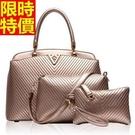 手提包肩背包精緻簡單-歐美時尚V字型子母女包包4色66d9【巴黎精品】