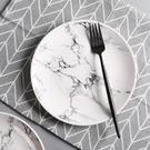 ▶創意大理石紋盤北歐陶瓷盤子菜盤家用牛排盤碟子早餐盤圓盤西餐盤