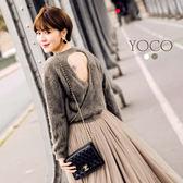 東京著衣【YOCO】安琪聯名法式甜美小心機露背毛衣-XS.S.M.L(172234)