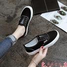懶人鞋春季春秋款帆布鞋女鞋子2021年新款百搭懶人布鞋一腳蹬ins潮板鞋 芊墨 618大促