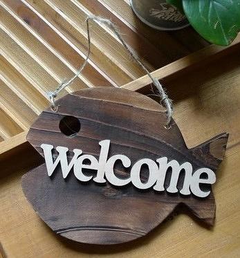 【協貿國際】魚形店鋪welcome歡迎牌