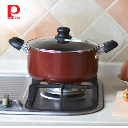 【日本珍珠金屬】不沾燉煮鍋(附鍋蓋)-24cm