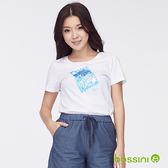 印花短袖T恤38白-bossini女裝