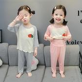 兒童睡衣夏季薄款可愛超萌寶寶空調服莫代爾男女童純棉家居服套裝 幸福第一站