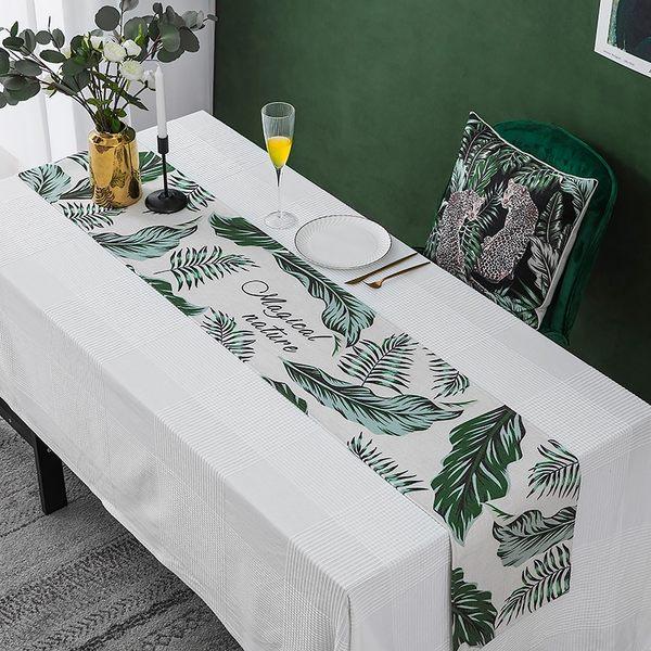 時尚可愛空間餐桌布 茶几布 隔熱墊 鍋墊 杯墊 餐桌巾桌旗 657 (30*160cm)
