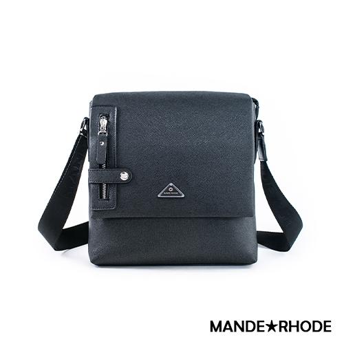 MANDE RHODE - 里米尼 - 硬挺十字紋直立式斜側背包 - MR-2279