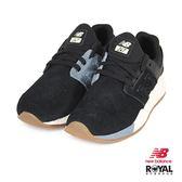 New Balance 新竹皇家 247 黑色 織布 麂皮 套入式 運動鞋 男女款 NO.B0242