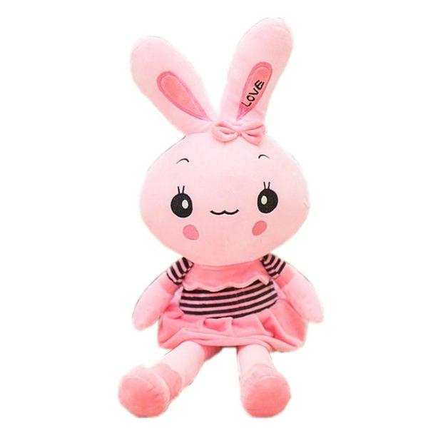 毛絨玩具兔子公仔小白兔布娃娃可愛玩偶抱枕送兒童女孩聖誕節禮物igo  莉卡嚴選