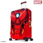 行李箱套 DESENO Marvel 漫威英雄造型 3D 防刮彈性 旅行箱保護套 行李箱套 鋼鐵人 L號 (28-29吋) 0003