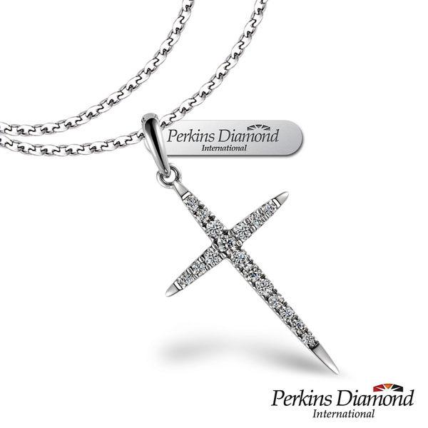 鑽石項鍊 PERKINS 伯金仕 十字架系列 0.11克拉項墜