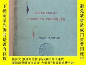 二手書博民逛書店functions罕見of complex variables(P895)Y173412