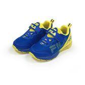 《FILA》兒童 MD氣墊慢跑鞋 藍黃色 2-J829S-399