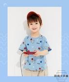 兒童短袖T恤夏裝透氣圓領純棉【時尚大衣櫥】