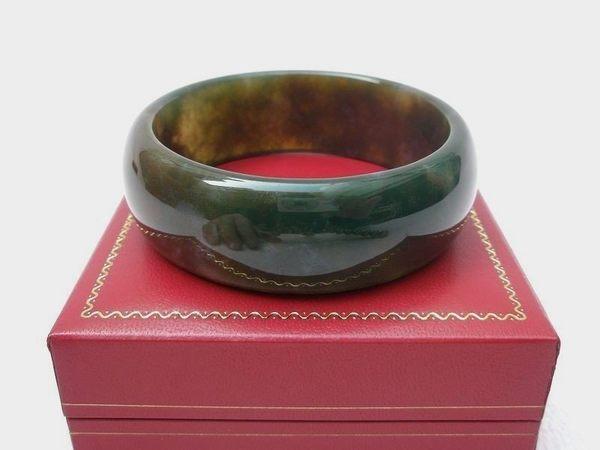 【歡喜心珠寶】【天然三彩碧玉手鐲】鐲圍18.8圍手環「附保証書」碧玉加強親和力之最佳寶石