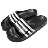 adidas 拖鞋 Duramo Slide 黑 白 運動拖 三條線 男鞋 女鞋 涼拖鞋 【ACS】 G15890