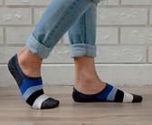 抗菌除臭 隱形氣墊襪 後跟防滑 吸濕排汗 除臭抗菌隱形襪-薄底 襪子 藍色【W087-02】Nacaco