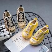 梅西童鞋2019夏秋季ins新款男童帆布鞋女童單鞋學生鞋網紅乞丐鞋