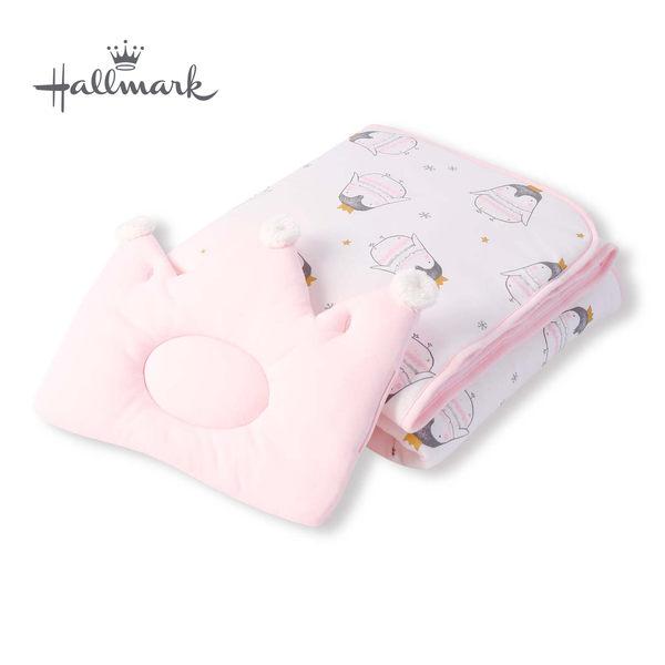 Hallmark Babies 皇冠企鵝枕頭被子HH3-N07-L1-LG-MR